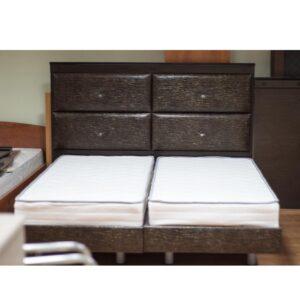 Κρεβάτι διπλό με ταμπλά 180x2x133 με στρώματα σε απόχρωση καρυδί