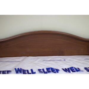 Κρεβάτι διπλό 158x210x88 με περισπωμένη σε κερασί απόχρωση με στρώμα
