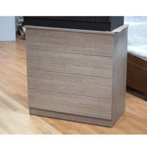 Συρταριέρα μελαμίνης 82x44x84 σε χρώμα φυσικό σκούρο