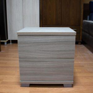 Κομοδίνο με Δύο συρτάρια μελαμινη σε χρώμα Γκρί-μπέζ 49x39x51